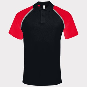 Polo base ball contrast polo shirt Thumbnail
